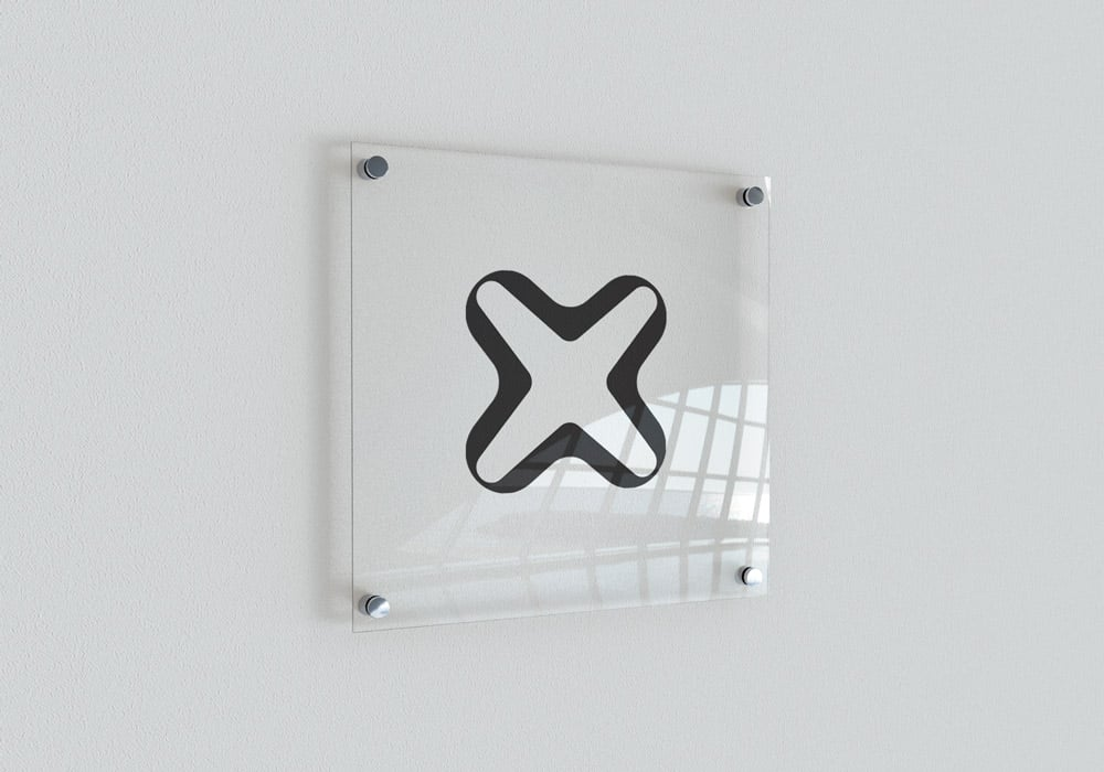 Internxt Transparent Indoor Signage Mockup
