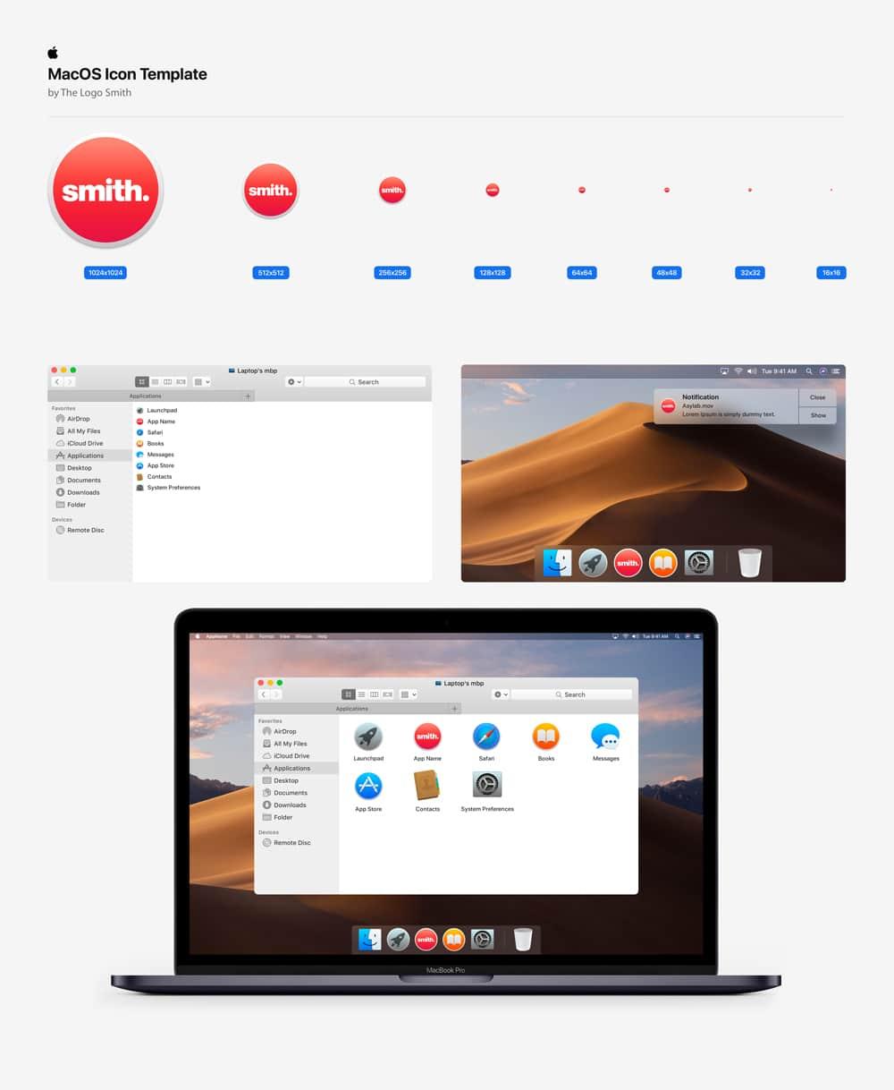 Mac OS Icon Template Mockup The Logo Smith Freelance Brand Designer