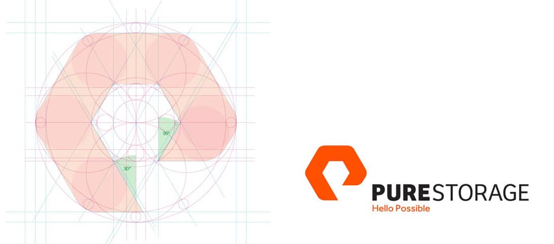 Pure Storage Logo Design Grid and Construction-designed by The Logo Smith