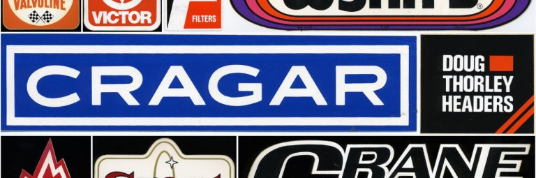 Vintage 1970's Racing Decals