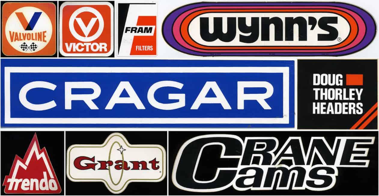 Vintage 1970's Racing Decals