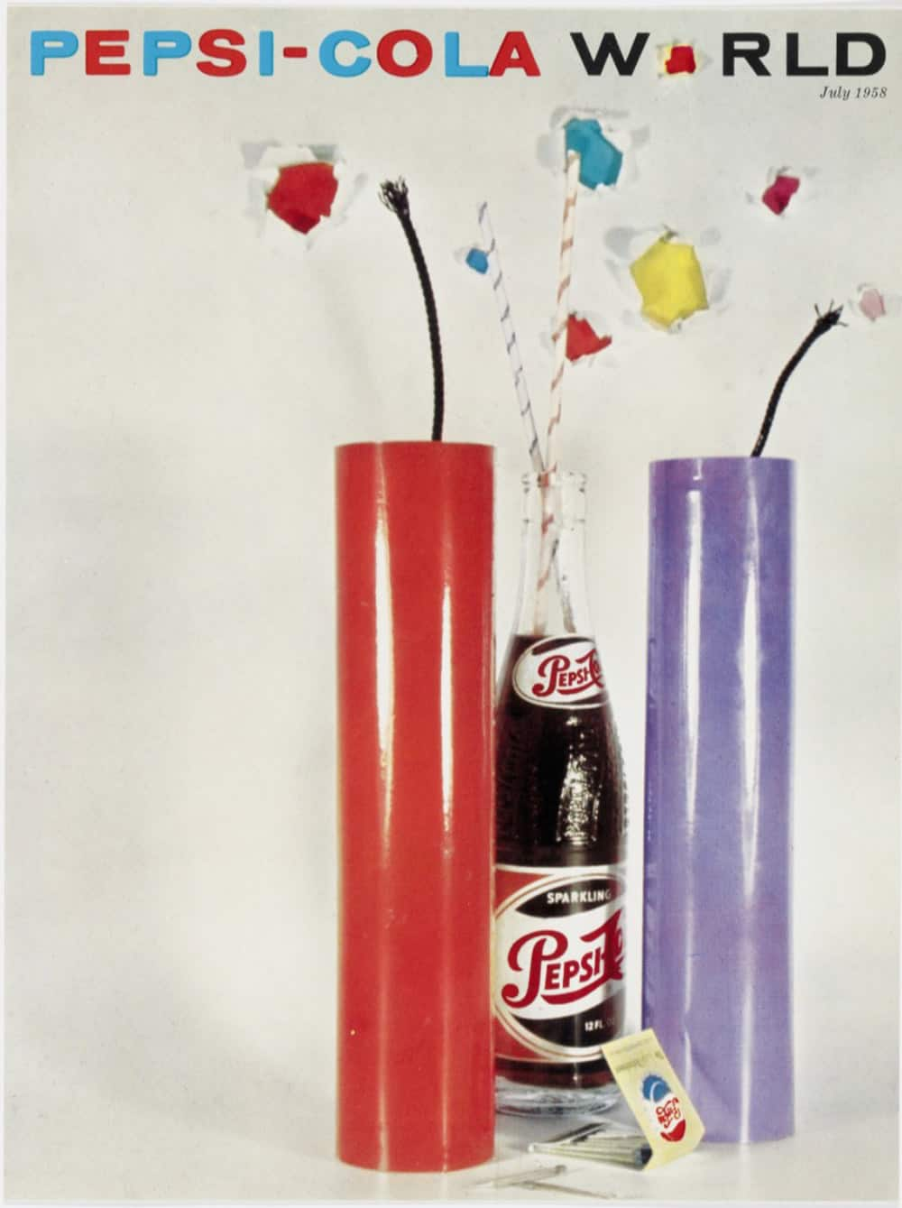 Vintage Pepsi-Cola World Magazine Cover July 1958