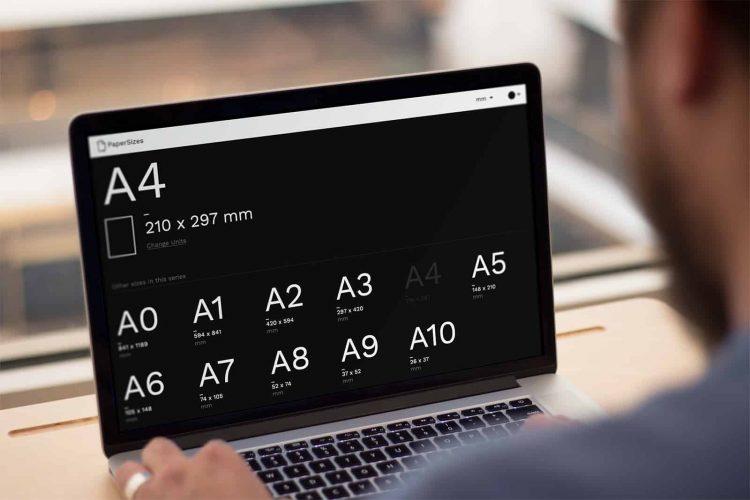 presskit papersizes desktop