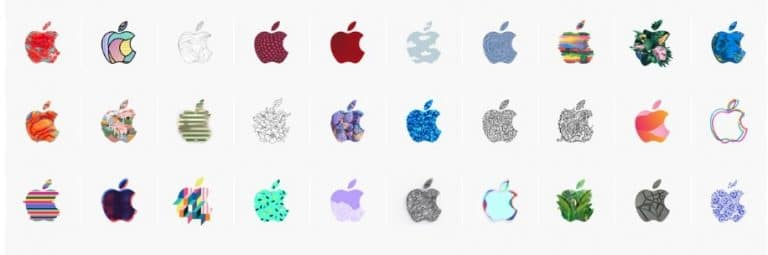 370 Apple Event Logos on One Sheet by Alireza