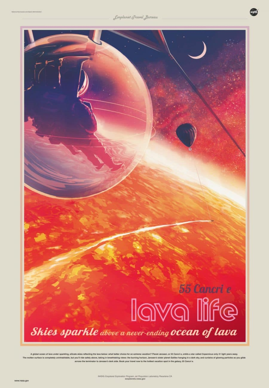 55 Cancri e Lava Life Visions of the Future Poster Series Designed by JPL
