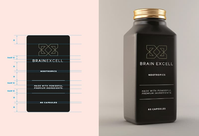 BrainExcell NOOTROPICS Packaging Designed by Freelancer Logo Designer The Logo Smith