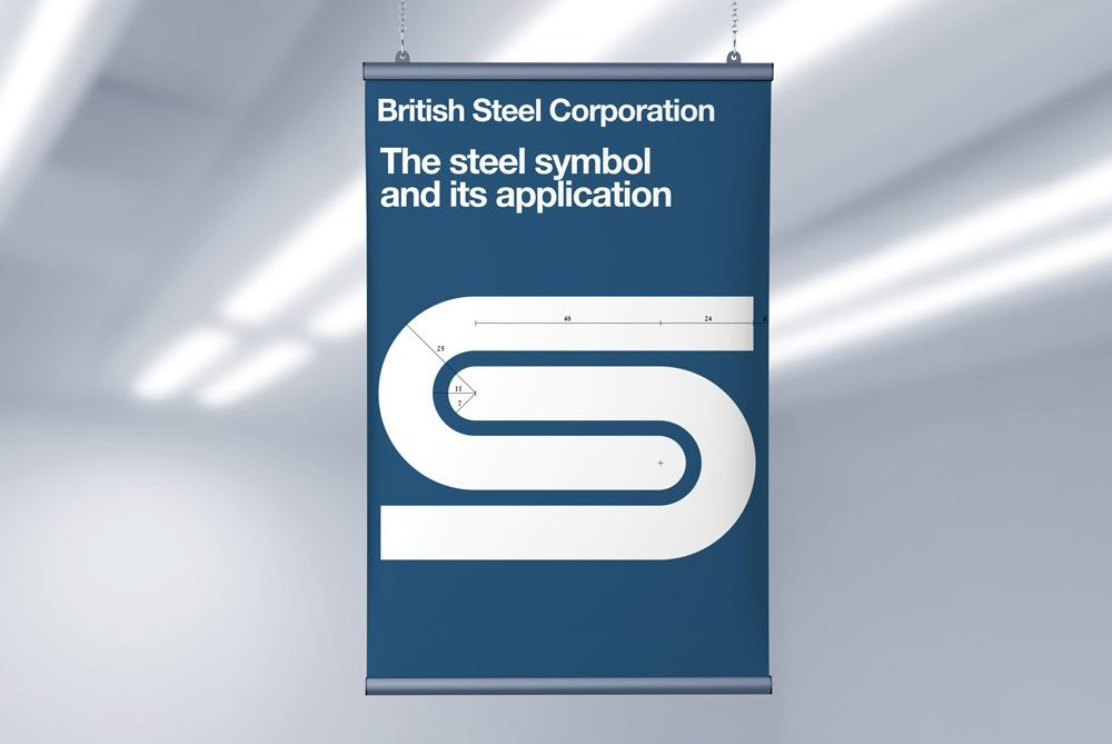 British-Steel-Symbol-Logo-Poster-Free-Ceiling-Hanging-Banner-Poster-Mockup-PSD-2019