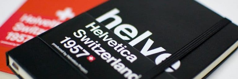 Helvetica Moleskine Notebook Sketchbook Giveaway by The Logo Smith