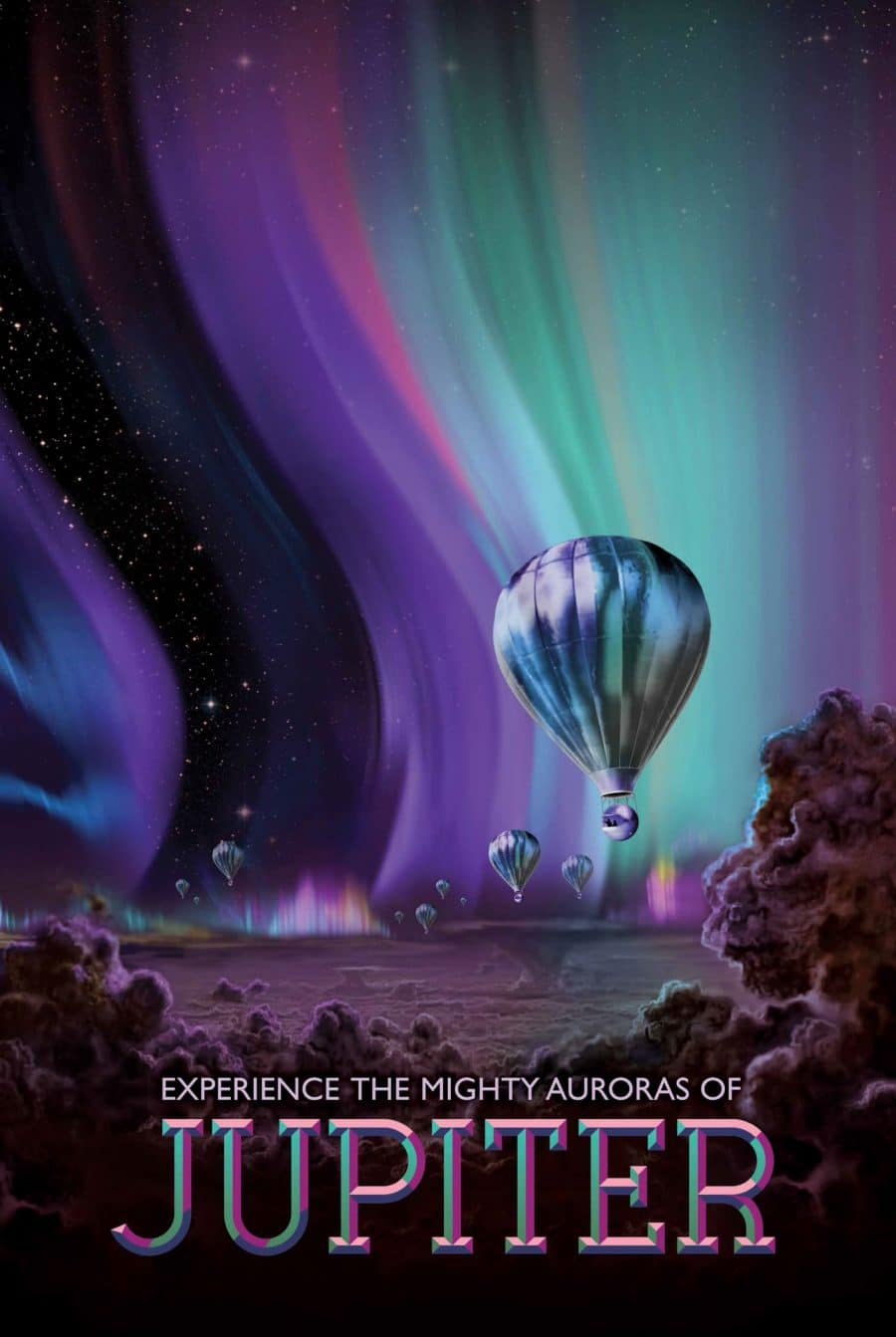 Jupiter Planet Visions of the Future Poster Series Designed by JPL