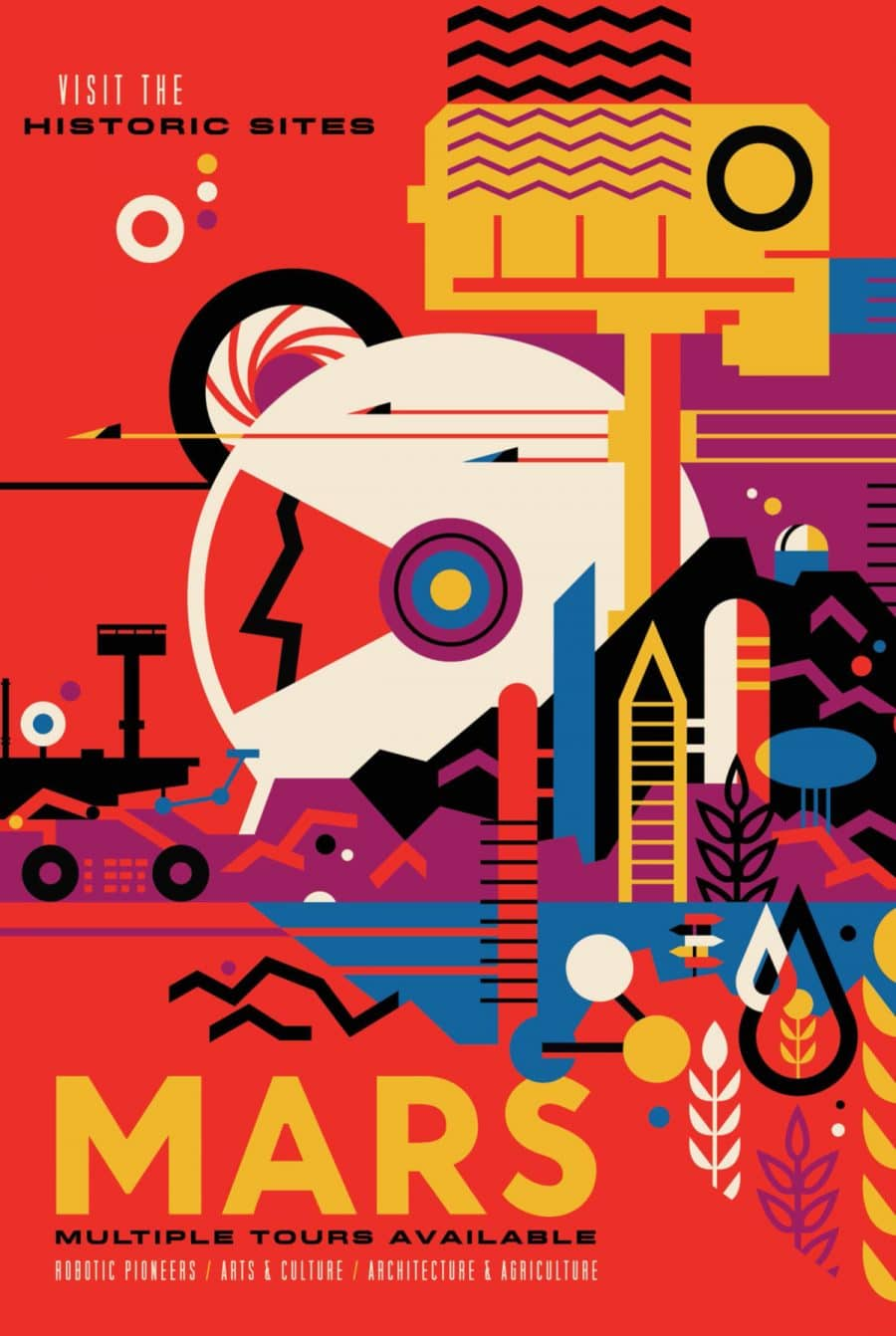 NASA Mars Exploration Program Visions of the Future Poster Series Designed by JPL