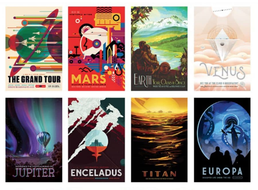 NASA Visions of the Future Poster Series Designed by JPL
