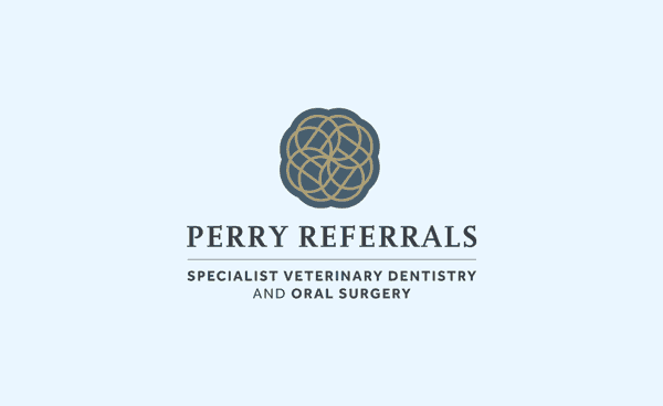 Perry Referrals Specialist Veterinary Dentistry Oral Surgery Logo & Brand Identity Designed by Freelance Logo Designer The Logo Smith.