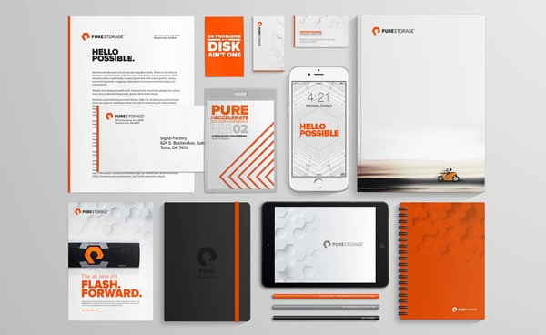 Pure Storage Enterprise Flash Storage Logo Designed by Freelance Logo Designer The Logo Smith