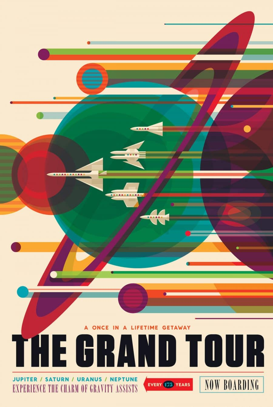 The Grand Tour NASA Voyager Mission Visions of the Future Poster Series Designed by JPL