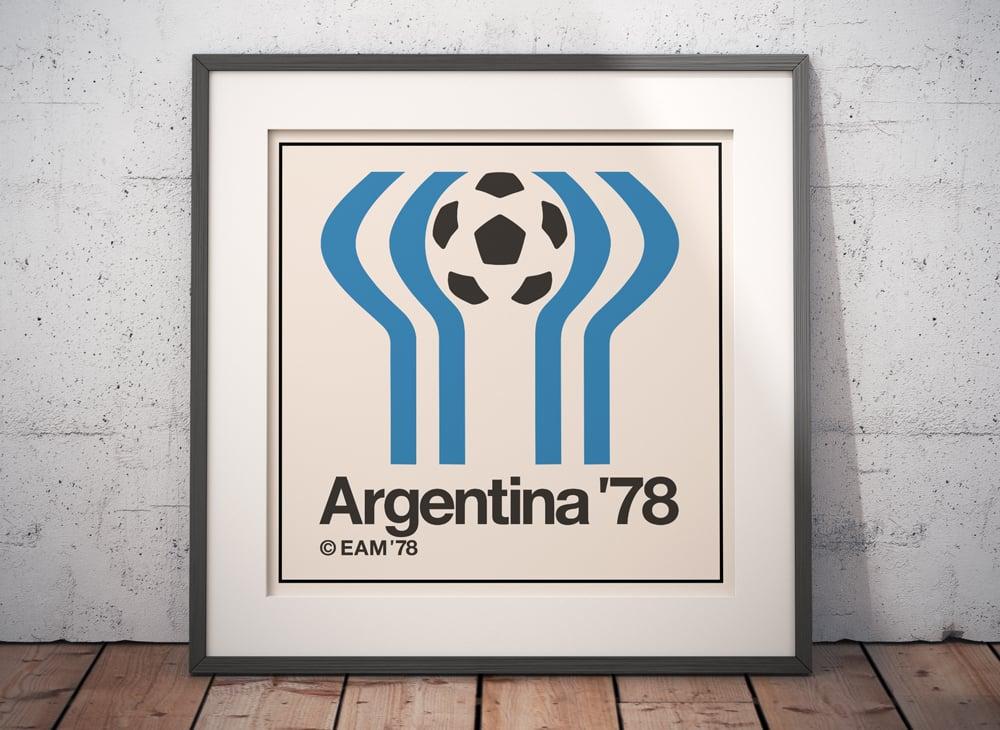 Argentina World Cup Logo Square Poster Frame Mockup Wide