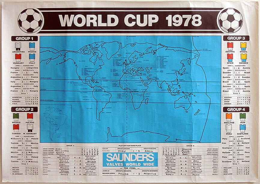 FOOTBALL-WORLD-CUP-1978-WALLCHART-POSTER-ARGENTINA