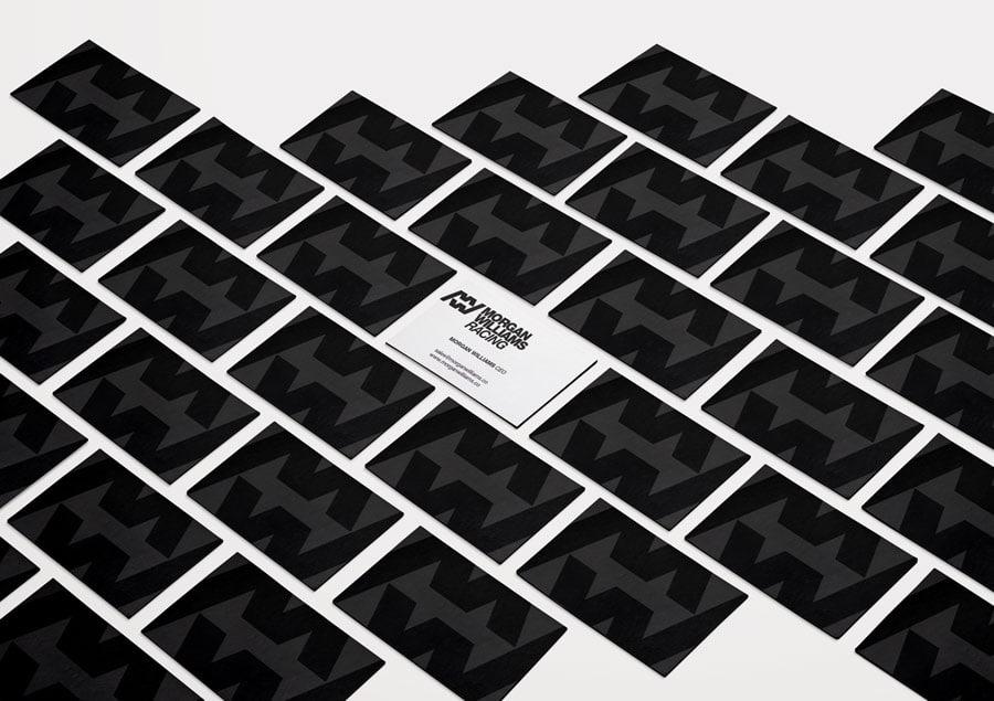Morgan Williams Racing Logo and Business Cards Designed by Freelance Logo Designer The Logo Smith.