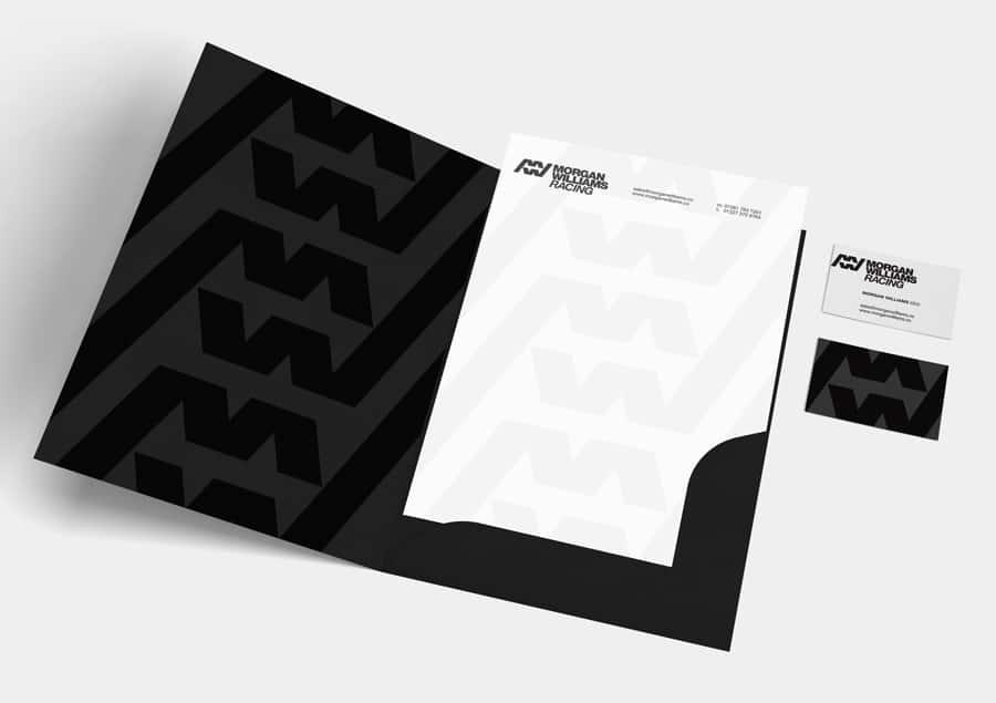 Morgan Williams Racing Logo and Folder Designed by Freelance Logo Designer The Logo Smith.