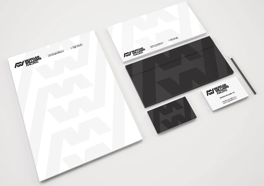 Morgan Williams Racing Logo and Stationery Designed by Freelance Logo Designer The Logo Smith.