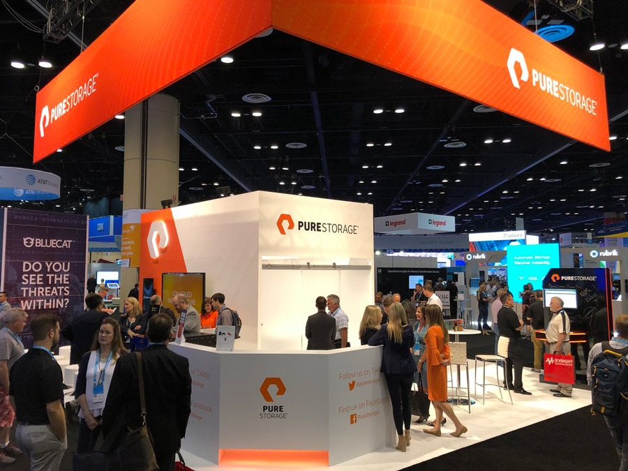 Pure Storage Logo Exhibition Stand designed by The Logo Smith