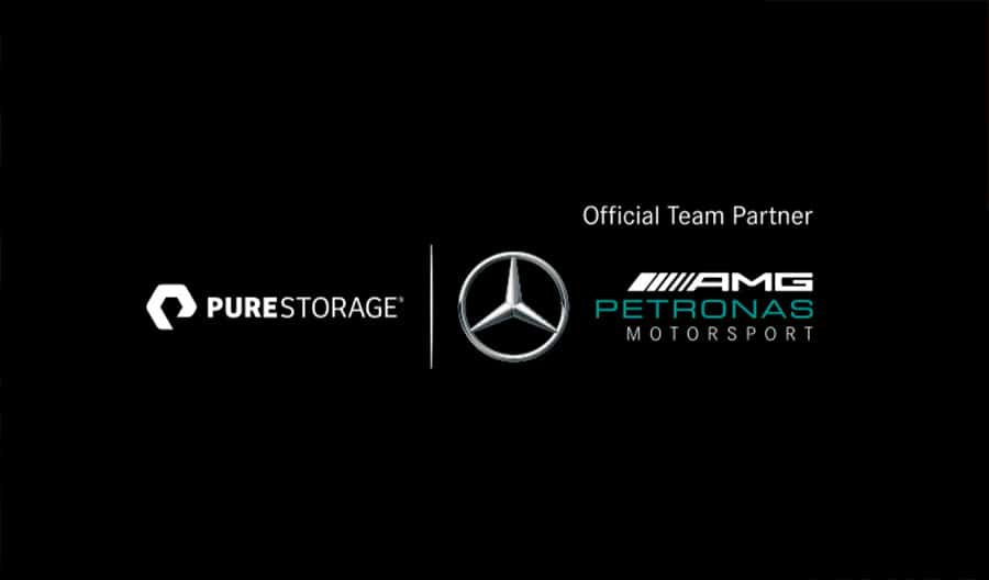 Pure Storage Official Team Partner Mercedes AMG Petronas Motorsport Logo Design by The Logo Smith