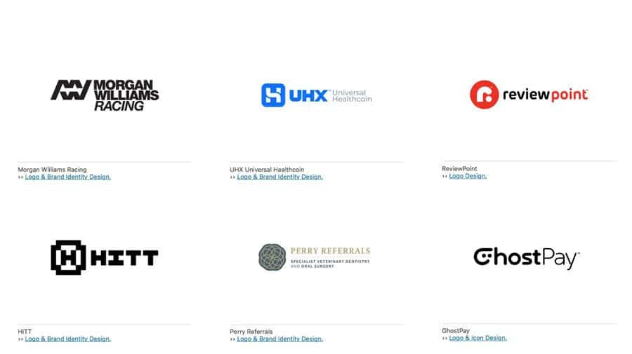 Recently completed Logo design projects by the logo smith