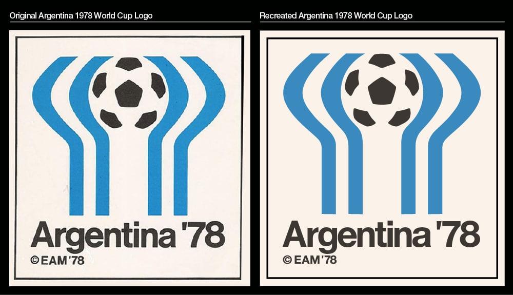 Recreated Argentina 1978 World Cup Logo vs original