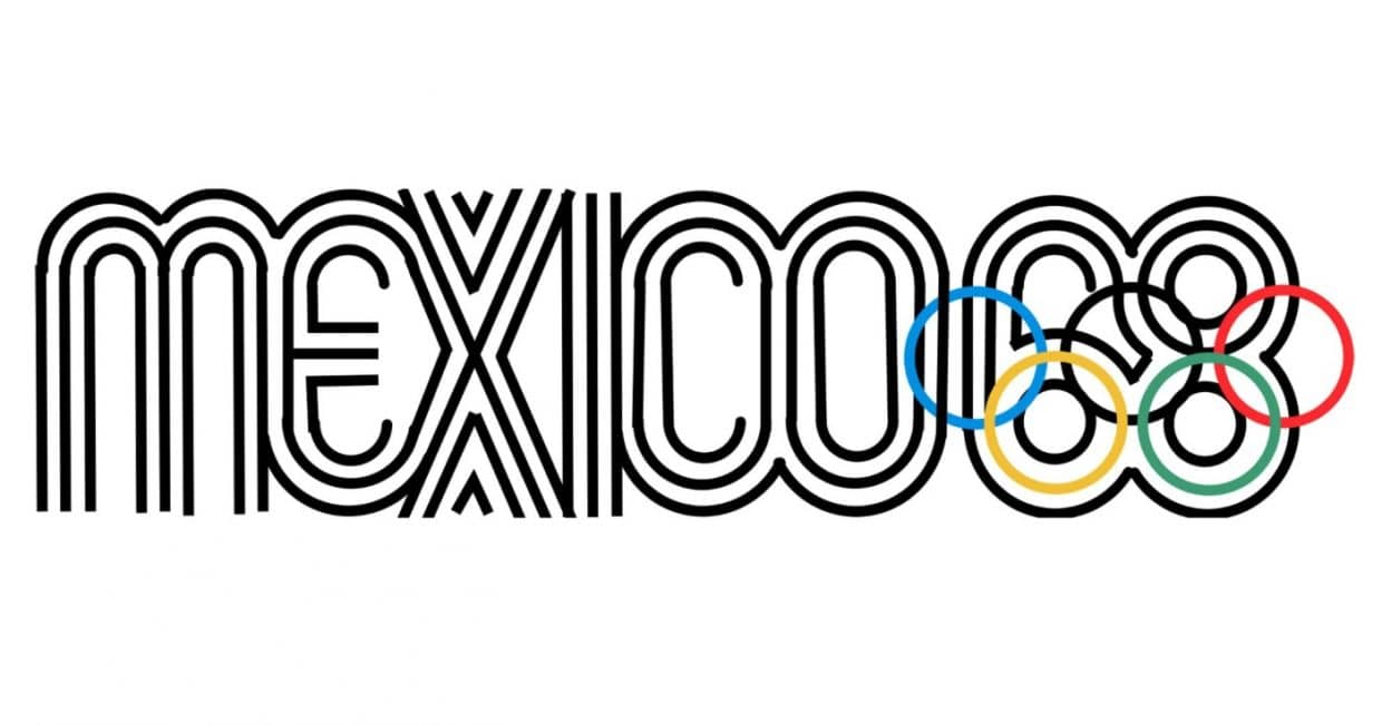 1968 Mexico Olympics Font and Logo Designed by Lance Wyman