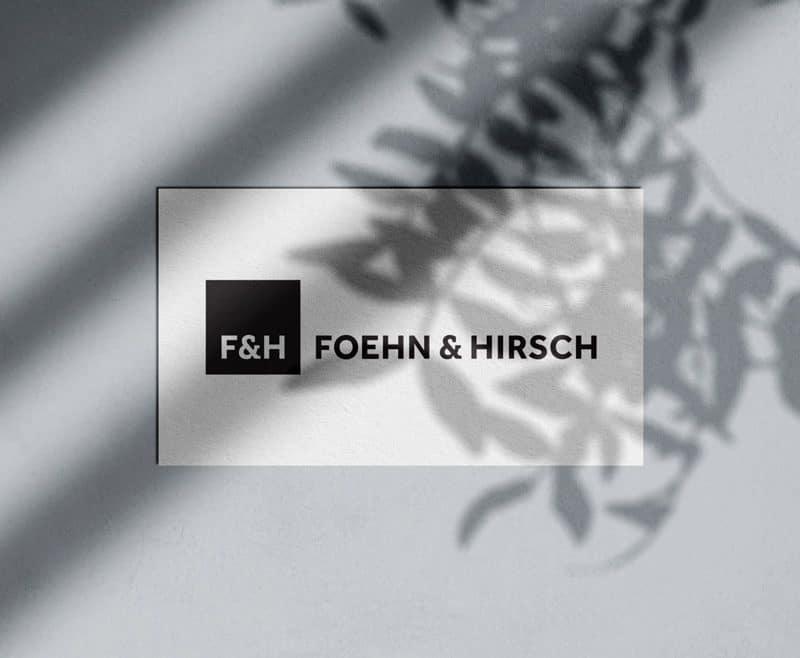 Foehn and Hirsch Logo & Brand Identity Designed by Freelance Logo & Visual Designer The Logo Smith