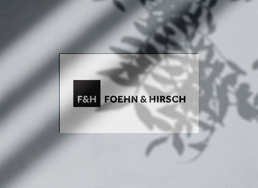 Foehn and Hirsch Logo & Brand Identity Designed by Freelance Logo & Visual Designer The Logo Smith