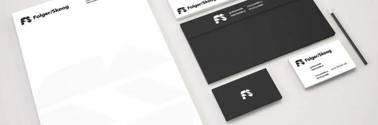 Folger Skooog Stationery Mock Up Designed by The Logo Smith