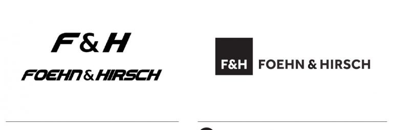Old and New Logo Design for Foehn and Hirsch