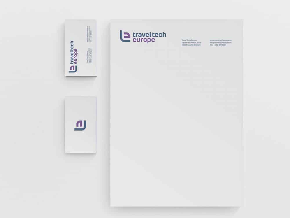 Travel Tech Europe Logo Design Stationery Mock Up Designed by The Logo Smith