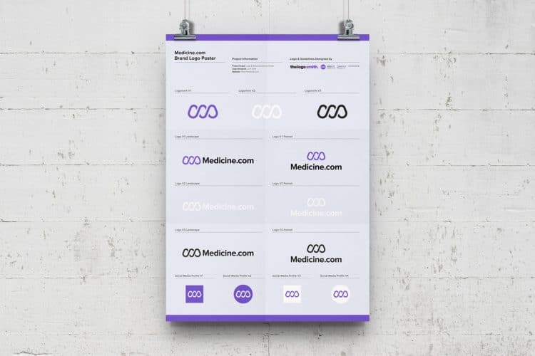 Brand Logo Versions Poster Template Free A3 Poster Mockup Designed by The Logo Smith