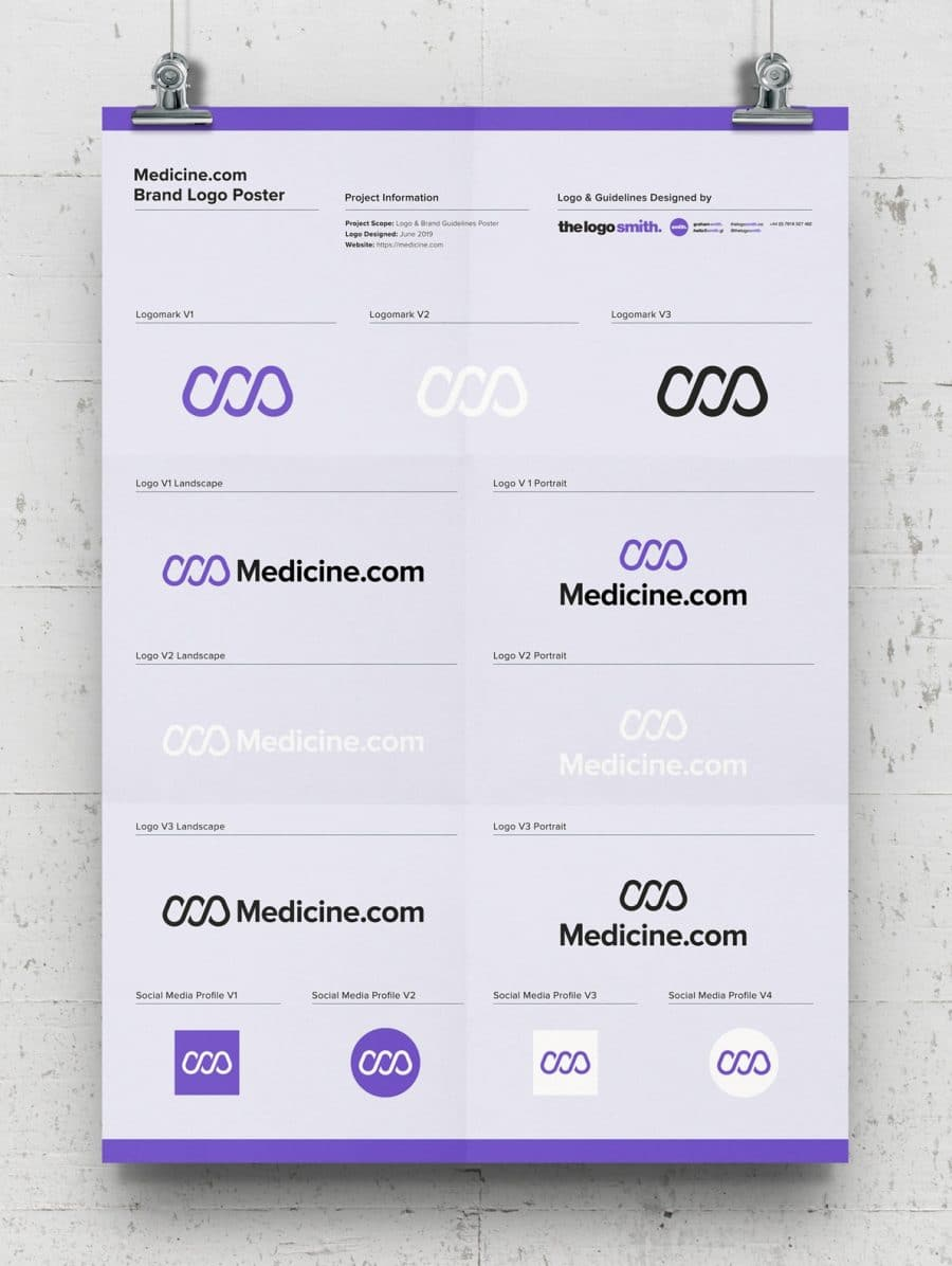 Brand Logo Poster Template Free A3 Poster Guidelines Mockup Designed by The Logo Smith