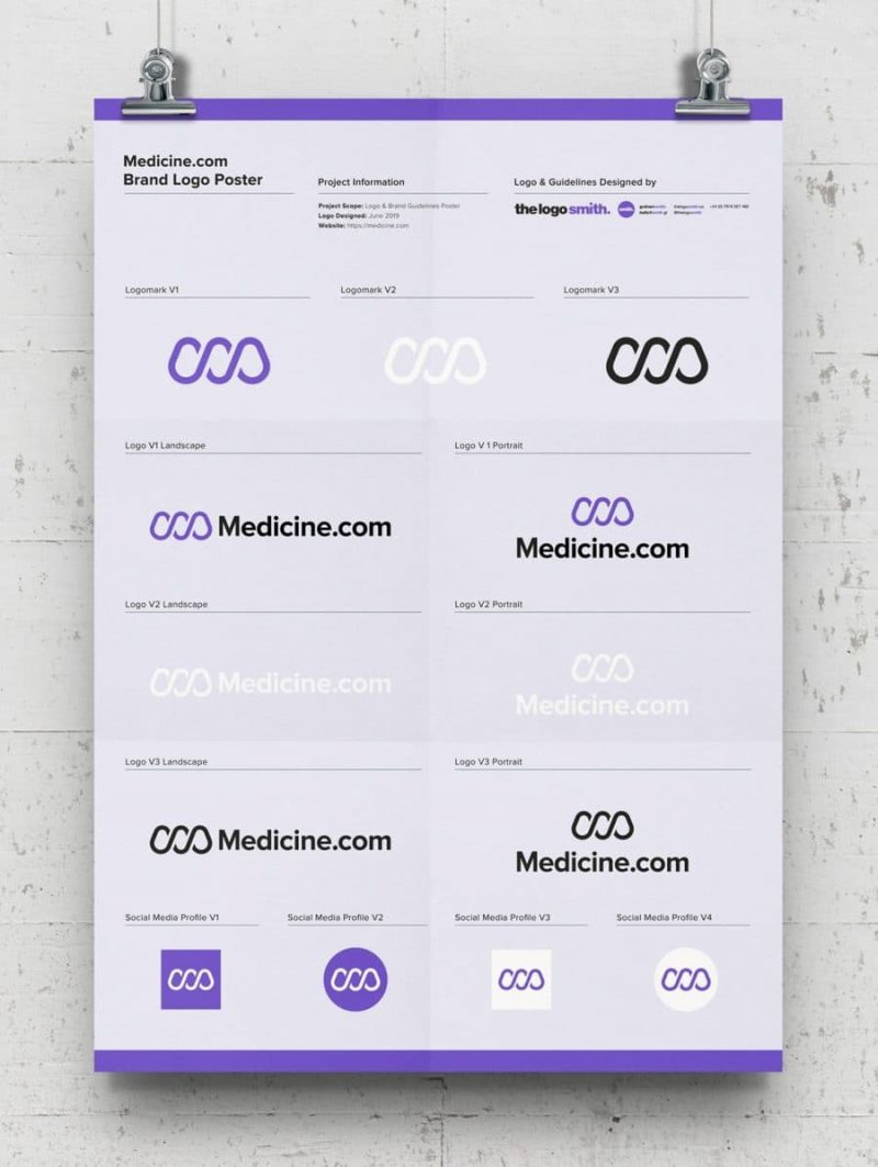 Brand Logo Poster Template Free A3 Poster Mockup Designed by The Logo Smith