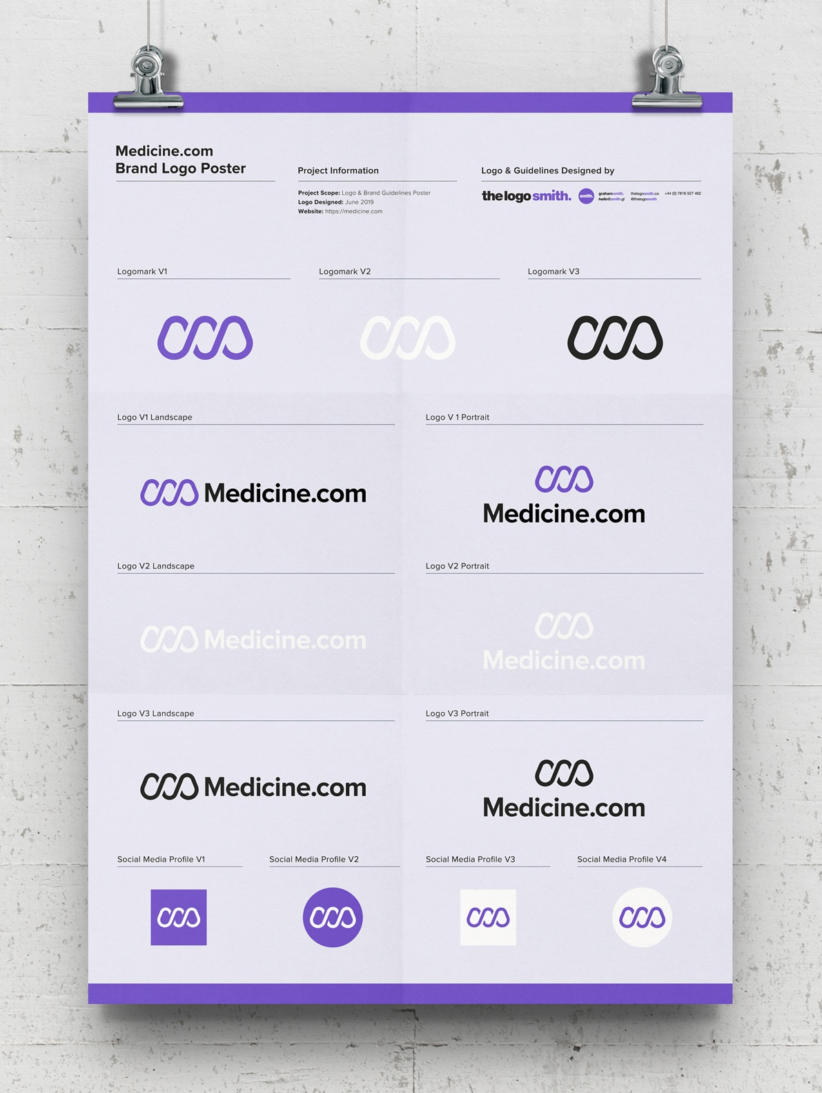 Brand Logo Poster Template Free Logo Mockup A3 Poster Designed by The Logo Smith