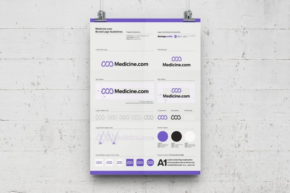 Brand Logo Usage Guidelines A3 Poster - Free Logo Mockup Download 8