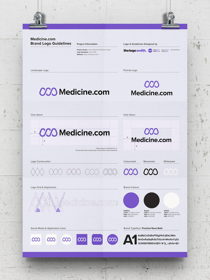 Brand Logo Versions Poster Template Free A3 Poster Logo Guidelines Mockup Designed by The Logo Smith