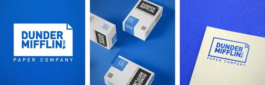 Dunder Mifflin - The Office Fan Art Logo Design Tv Show