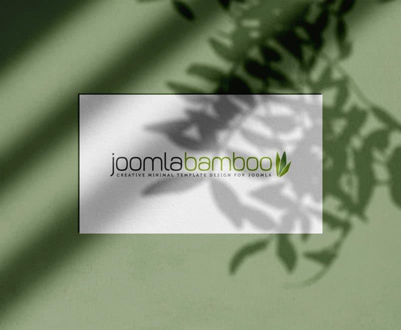 Joomla Bamboo Logo Design Mock up by The Logo Smith