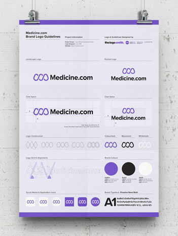 Brand Logo Usage Guidelines A3 Poster – Free Template for Download