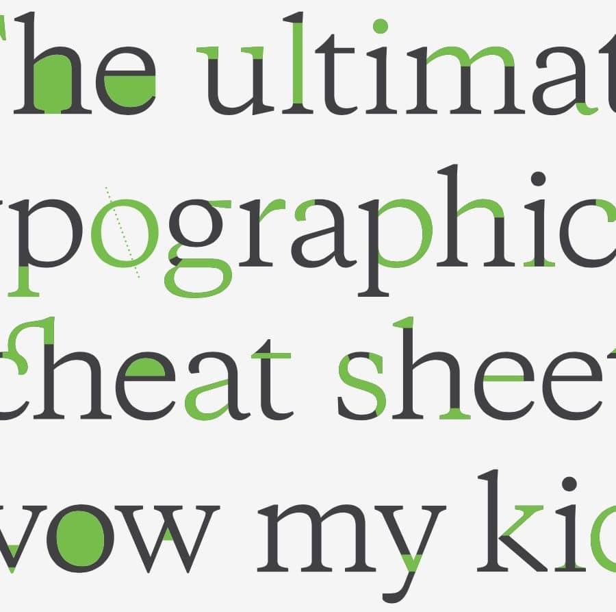 Interactive Typography Cheatsheet
