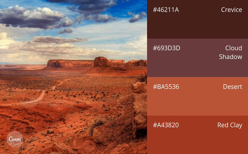 03.-Dark-_-Earthy 100 Beautiful Colour Swatches and Combinations by Canva