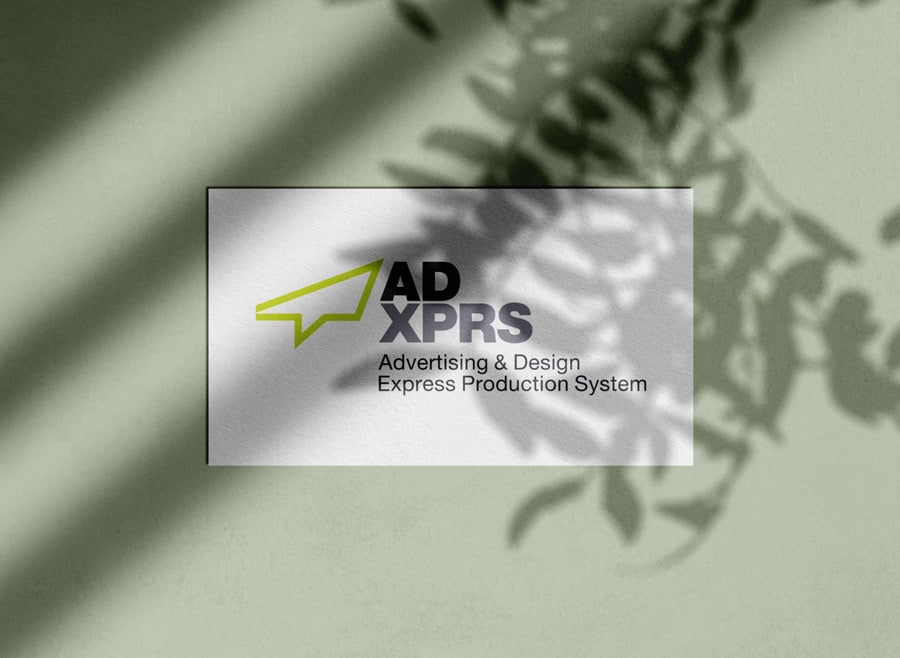ADXPRS Advertising and Design Express Production System Logo and Brand Identity Designed by Freelance Logo Designer The Logo Smith