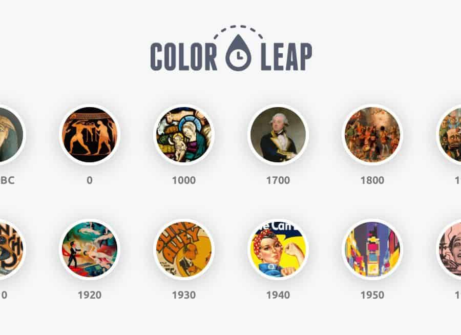 Color Leap Take a leap through time and see the color palettes of history