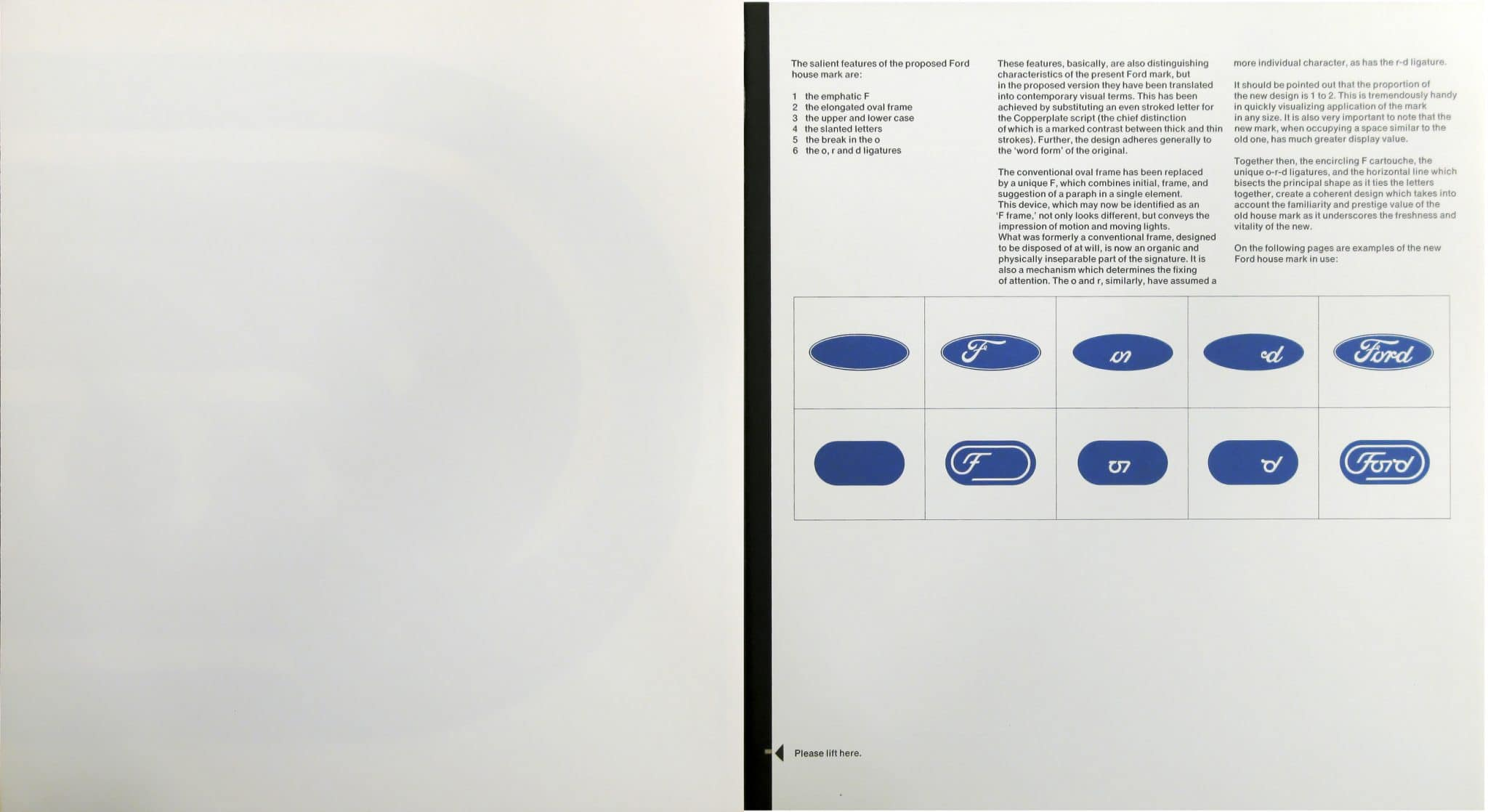 Ford, logo presentation book