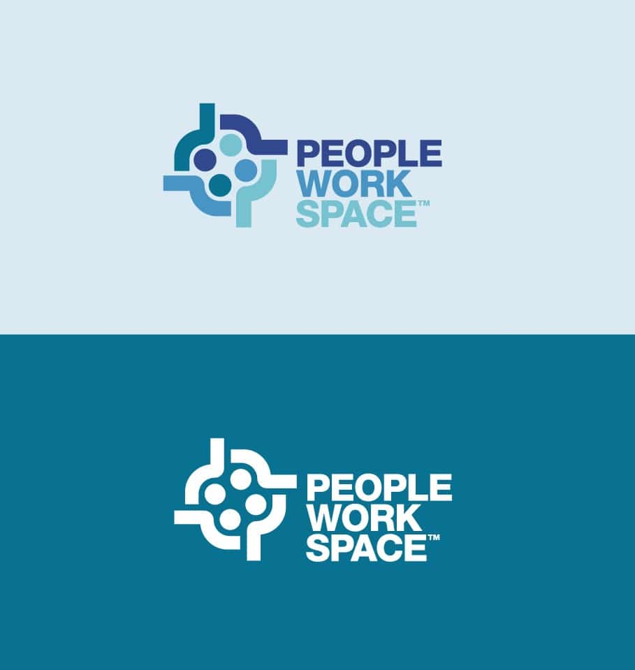 PeopleWorkSpace Logo Designed by The Logo Smith Freelance Logo Designer
