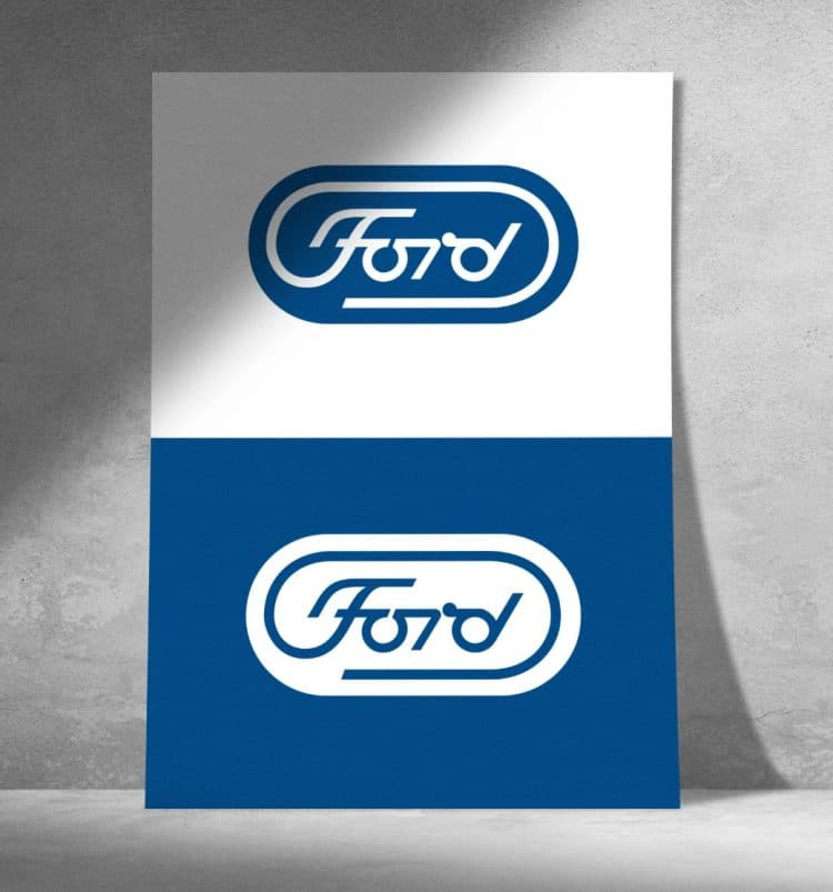 Paul Rand Ford Motor Company Logo Design Unused 2