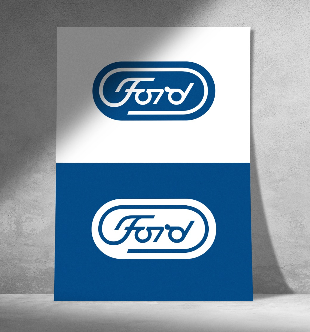 Paul Rand Ford Motor Company Logo Design Unused 2